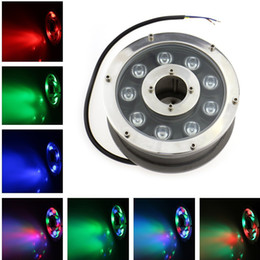 Wholesale Led Submersible Fountain Lights - 2PCS AC DC24V LED Fountain Light 9W IP68 Waterproof Underwater Light Pool Light Swimming Pool RGB LED Pond Lights Submersible Lighting