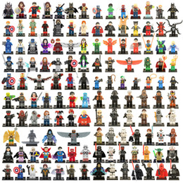 Wholesale Wholesale Star Wars Figures - 100pcs Wholesale Mix Lot Minifig Super Heroes Avengers Star Wars Harry Potter Hobbit Figure Super Hero Building Blocks Figures Toys