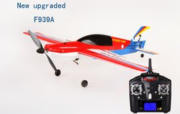 Wholesale Electric Radio Control Airplanes - Wholesale-New upgraded Wltoys F939A 2.4G 4CH rc airplane remote control airplane rc glider radio control