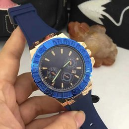 Wholesale Cheap Gold Watches For Men - Cheap Top brand Casual Luxury men's watches 3 Eyes With Auto Date Rubber Straps Quartz wristwatches For men boy watch Relogio Masculino