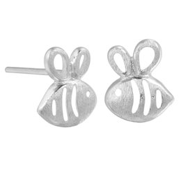 Wholesale Silver 925 Bee - 5 pairs lot 925 Sterling Silver Small Bee Stud Earrings for Women Cute Girl Birthday Gift Prevent Allergy Sterling-silver-jewelry