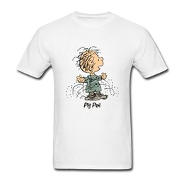 Wholesale Peanuts Snoopy pig_pen Cool new High Quality Cotton men s T Shirt cheap sell