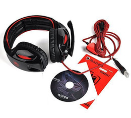 Wholesale Usb Computer Headsets - Sades SA-902 Gaming Headsets with Microphone LED Light Channel USB Headphone Noise Cancelling Earphone for PC