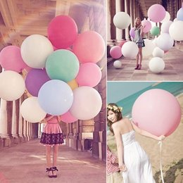 Wholesale 36 Giant Balloons - 1pcs New Colorful 36'' Inch Giant Latex Balloons Birthday Wedding Party Palloncini Decoration Inflatable Helium Balloon Toys Z2