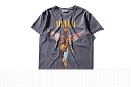 Wholesale Printing Photos Metal - Wholesale- EU US tide brand t-shirt Nirvana men 's In utero record cover photo Heavy metal rock band Men cotton tshirt hip hop clothing