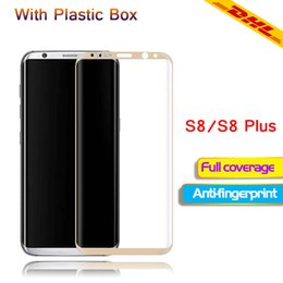 Wholesale Cell Phone Accessories Wholesale Screens - For Samsung s8 tempered glass 3D full screen cell phone protection film With packaging and accessories