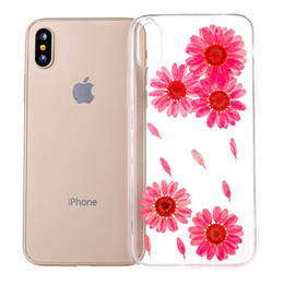 Wholesale Wholesale Dried Roses - For Iphone X Case Dried Real Flower Clear Soft TPU Back Cover For iphone X 8 8plus