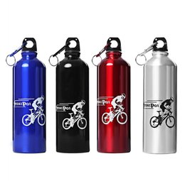 Wholesale Bicycles Direct - Wholesale- New 750ML Portable Aluminum Alloy Sport bottle Water Bottle with hook keychain for Outdoor Sports Cycling Camping Water Bottle