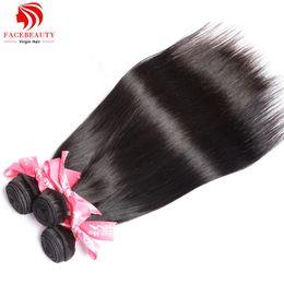 Wholesale Good Hair For Cheap - Wholesale-Brazilian Hair Bundles for Sale 1Pcs Lot Brazilian Straight Human Hair Good Cheap Weave Mink Brazilian Virgin Hair