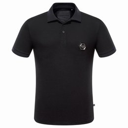 Wholesale T Shirt Polyester - Wholesale Hot Fashion European TopBrand Mens Short PoloShirt Fit Slim smaple Men desinger Print 3D Casual l Mens T-Shirts P1028