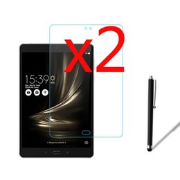 """Wholesale Asus Tablet Screen - Wholesale- 3in1 2x LCD Clear Screen Protector Films Protective Film Guards +1x Stylus Pen For Asus ZenPad 3S 10 Z500 Z500M 9.7"""" Tablet"""