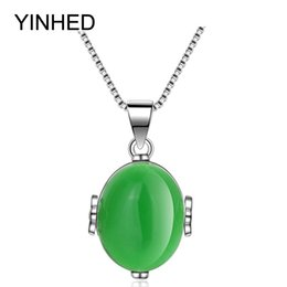 Wholesale Jade Pendant Singapore - Luxury Natural Agate Pendant Necklace 925 Sterling Silver Box Chain Necklaces & Pendants Women Fashion Jewelry Necklace ZN076