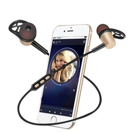 Wholesale Microphone Style - Sports Bluetooth Headset With Magnetic Earbuds+HD Microphone Bluetooth V4.1 Earphone Headphones Neckband Style For Android IOS Phones