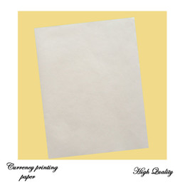 Papel blanco tamaño a4 online-pegue papel de impresión 75% algodón 25% de lino sin almidón con fibra roja y azul papel impermeable tamaño a4 color blanco