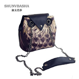 Wholesale Satchel Bags Owl - Wholesale-New Fashion Cartoon Bag Owl women Shoulder Bags Leisure Women Handbag PU Leather Owl Pattern Satchel Women casual Messenger Bag