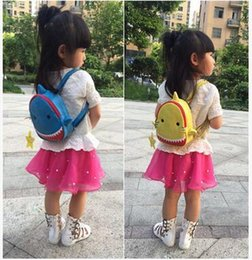 Wholesale Cheap Shoulder Bags For Children - New Arrival Shark Backpack For Children Kids Mini School Bag Waterproof High Capacity Backpack Boys Girls Cartoon Picnic Backpack Cheap