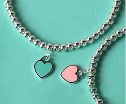 Wholesale Heart Shaped Ornaments - Sterling Silver Blue Enamel Heart-shaped Round Buddha Beaded Bracelet Women's Ornament free shipping