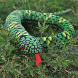 Wholesale Scary Decorations - Fun simulation snake Python simulation plush toys doll decoration props creative gifts Funny cognition zodiac snake Scary