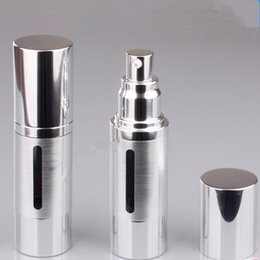 Wholesale Wholesale Used Plastic - 15ml 30ml gold silver Refinement airless vacuum pump lotion bottles used for Cosmetic packing fast shipping F2017818