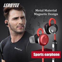 Wholesale Apt X - X9 Magnetic Metal Bluetooth Headset v4.1 Stereo Sports Wireless Earphone Handsfree Voice Answer Phone Calls Apt-x for iphone 7 8 x samsung