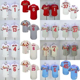 Wholesale Men Dexter - St. Louis Cardinals Jersey Flexbase Yadier Molina Matt Carpenter Dexter Fowler Adam Wainwright Michael Wacha Ozzie Smith Stan Musial