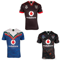 Wholesale Warriors Jersey Xl - Rugby Wear 2017 Auckland Warriors rugby jerseys 17 top quality 9S men rugby shirts NZ Warriors shirts free shipping