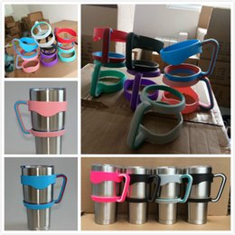 Wholesale Sip Cups - 30oz Mugs Handle Foryeti Tumbler Handles Stainless Steel Cups Holder Vacuum Mug Double-deck Colorful Holders for Car Mugs Free Sipping