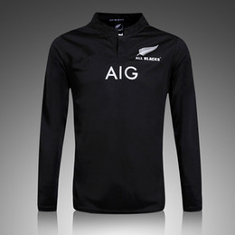 Wholesale Ruby Flash - 2017 New Zealand Ruby Jersey for adult 2016 men's Home Black Shirts All top thailand quality Rugby Jerseys S-2XL Free shipping