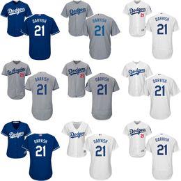 Wholesale Royal Jerseys - Mens Womens Kids Basy Los Angeles Dodgers 21 Yu Darvish Home White Road Grey Royal Alternate Flex Base Cool Base Collection Custom Jerseys