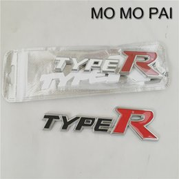 Wholesale Camry Body - Car styling TYPER 15*3 Emblem Badge Decal Metal Car Sticker universal fit for toyota Camry Corolla Yaris CIVIC