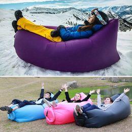 Wholesale Double Bean Bags - Summmer Lounge Sleep Bag Lazy Inflatable Beanbag Sofa Chair, Living Room Bean Bag Cushion, Outdoor Self Inflated Beanbag Furniture DHL free