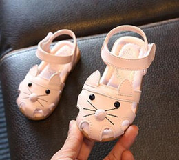 Wholesale Bags Korean Girls - 2017 summer children shoes toe sandals sandals boys girls Korean color sandals children soft bottom bag mail