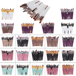 Wholesale professional synthetic makeup brushes - 20 pcs brand Makeup Brushes Professional Cosmetic Brush set With nature Contour Powder Cosmetics Brush Makeup