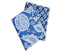 Wholesale Blue Yan - fabrics prints, cotton fabrics the sky blue and white flowers, leng yan series. Clothing, handbags high quality Vb fabric