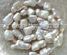 "Wholesale Keshi Pearl White - free shipping natural beautiful Jewelry AA wholesale Baroque 1 strands charming 15 "" white reborn keshi pearl"