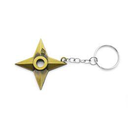 Wholesale Ninja Naruto - Original New Fashion Naruto Keychain Dart Weapon Konoha Logo Uzumaki Naruto Keyring Key Chain Ring Ninja Anime Jewelry Gift