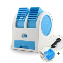 Wholesale Mosquito Netting Retail - Home Appliances Mini USB Fragrance Refrigeration Fan Portable Bladeless Desktop fans Cooling Air Conditioner with Retail Packaging
