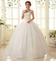 Wholesale Vintage Wedding Dresses Drop Ship - Vintage Free Shipping 2016 New White Princess Cheap Wedding Dress Bridal Gown Designer Remantic Lace Up Wedding Guest Dress Bride Dresses