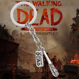 Wholesale Death Pendants - Hot Film The Walking Dead Keychain Vintage Steampunk Fighting The Death Fear The Living Pendants Key Chain Ring Holder Chaveiro