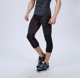 Wholesale Body Free Tights - Wholesale- mens pants for compression pro tight shorts fitness body shuit sportswear mens short pants knee length MA08