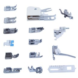 Wholesale Sewing Machine Foots - Universal 15PCS Sewing Machines Presser Feet Foot Kit Set