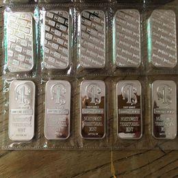 plaques d'immatriculation Promotion 5 pcs Non magnétique Un Oz Réel Plaqué Argent Réplique Nord-Ouest Un Bullion Bar Coin 50 x 28 mm Emballage plastique sous vide sans boîte