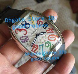 Wholesale Watches Hours Men - Top AAA Men Watches Automatic Hours Fm Watch Mens White Color Arabic Dial Tonneau Rubber Band Strap Men's Sports Wristwatches