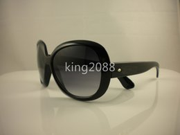 Wholesale Ii Sun - 1Pcs High Quality Fashion Designer Sunglasses Jackie Ohh II Sun Glasses For Womens Black Frame With Cases And Box