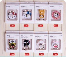 Wholesale Unique Retail - Cartoon Ring Phone Holder with Stand Unique Mix Styles Cell Phone Holder for iPhone 7 Plus Universal All Cellphone with retail package