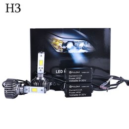Wholesale Replace Car Headlights - Nice 1 set H3 CREE 120W 7200LM LED CAR HEADLIGHT KIT HIGH BEAM REPLACE HALOGEN XENON 2016 Hot sale Promotion High power Quality