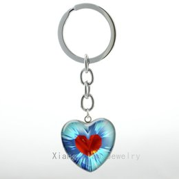 Wholesale Zelda Glass - 2017 hot selling Zelda Heart keychain cute heart container case for legend of zelda pendant key chain Christmas gift H26 H28 H90