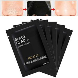 Wholesale Care Minerals - 50Pcs lot Pilaten Facial Black Mask Face Care Nose Acne Blackhead Remover Minerals Pore Cleanser Mask Black Head Strip maquiagem