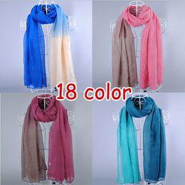 Wholesale Hijab New Design - Wholesale-New design women's printe Ombre shade plain fashion shawls long cotton voile hijab head muslim scarves scarf 10pcs lot