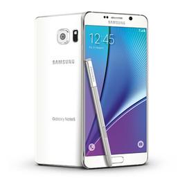 Wholesale Galaxy Note Lte - Refurbished Samsung Galaxy Note 5 N920A N920T N920V N920P N920C Cell Phones 5.7 inch LTE Refurbished phones 4GB RAM 32GB ROM Smartphone